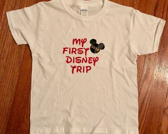 My First Disney Trip Shirt - Year Included - Family Disney Shirt - Disney Vacation