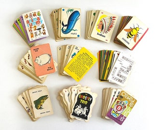 vintage lot of cards card games scrapbooking crafting cards game cards instant collection