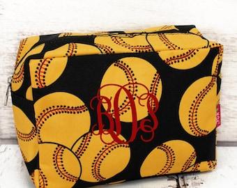 Softball Cosmetic Bag Case