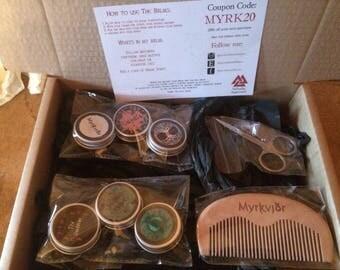 SALE // Myrkvidr Viking Beard Balm Grooming Kit // Beard Starter Kit
