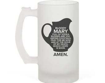 Sterling ARCHER Bloody Mary Speech Inspired 16oz Frosted Glass Beer Stein Perfect Gift!