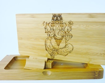 Magnetic Rolling Tray - Bamboo - Elephant