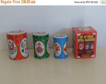 On Sale Christmas Canisters,  Canisters, Holiday Decor, Nesting Canisters