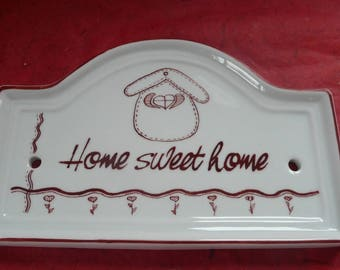 """door plaque """"home sweet home"""" Red"""