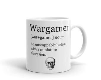 Wargamer Mug, Wargaming Mug, Warhammer Mug, Wargamer Gift, Wargaming, Warhammer