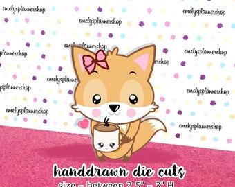 Planner Die Cuts,Girl Cuts,Kawaii Die Cuts,Christmas Die Cuts,Scrapbook Kit,Hand Drawn Kawaii Planner Accessories DC004
