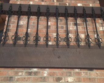 Vintage Hand Forged Wrought Iron Spindles