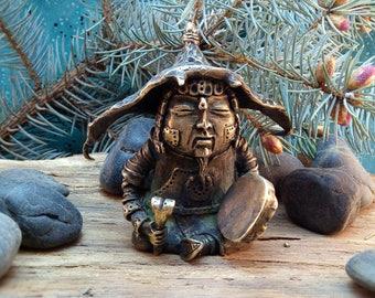 Bronze sculpture  Bronze statuette in ethnic style.