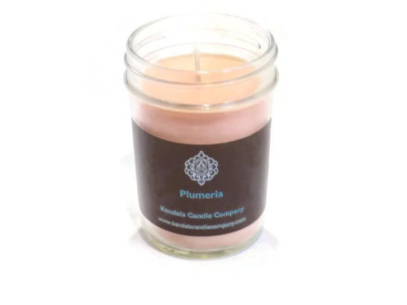 Plumeria Scented Candle in Jelly Jar