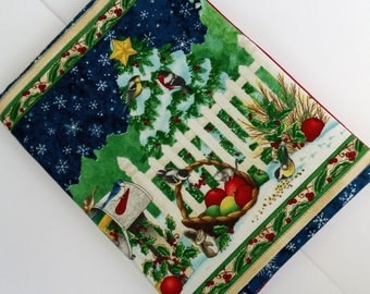 Fabric book cover Christmas tale