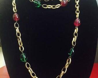 Original Chanel Gripoix Sautoir Necklace circa 1970