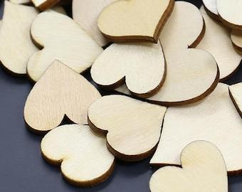 Wooden Hearts, MDF Hearts, Blank Hearts, Wooden Shapes, Wood Hearts, Heart Applique, MDF Hearts, Plain Hearts, Heart Shapes, 40mm Hearts