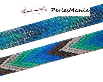 180 cm cord flat 22mm CHEVRON pattern wave DIY blue tones