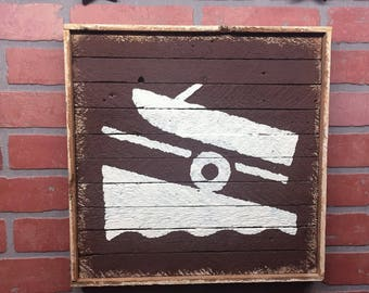 Boat Launch, Boat Launch Marker, Boating, Power Boat, Cabin Decor, Boat House, Lake House, Rustic Home Decor, Nautical