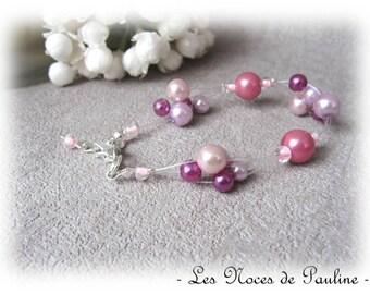 Pink old Victoria Pearl wedding bracelet 'Flight' b.