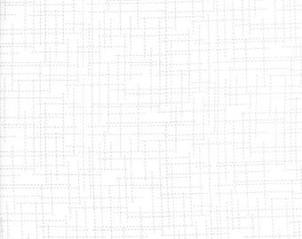 "Moda ""Modern Background Colorbox"" by Zen Chic ~ GRID ~ White Geranium ~ 1648 16 ~ By The Half Yard ~"
