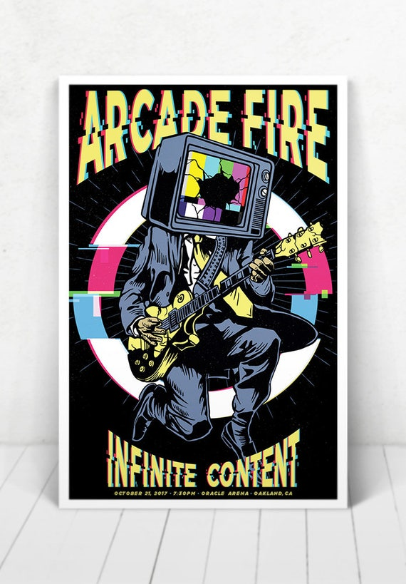 Arcade Fire Concert Poster - Illustration [Arcade Fire / Oracle Arena Oakland, CA - Oct. 21, 2017]