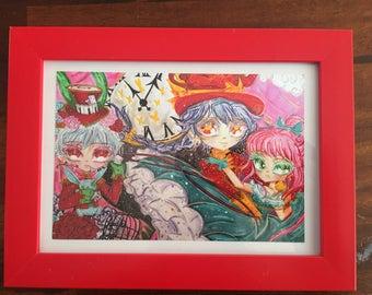 """Original Art """"Wonderland"""" framed 6 x 4"""" print"""