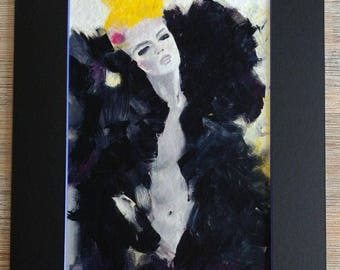 Black Desire, fine-arts print with Passepartout