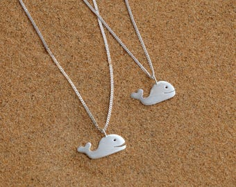 Silver whale necklace, Whale necklace, Sterling silver whale necklace, Whale silver pendant, Women necklace, Summer necklace, Whale gift