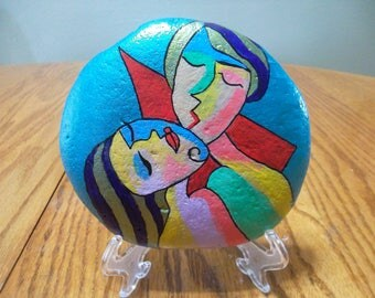 Painted River Rock Lovers