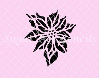 Poinsettia Stencil NB2153 Christmas Holiday