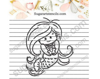 Mermaid PYO cookie Stencil NB900557