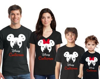 Disney SNOWFLAKE CASTLE with Disney Christmas Family Shirts, Disney inspired shirt, Family Vacation, Disney christmas shirts,Family vacation
