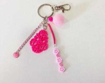 Handbag style pink baroque with tassel