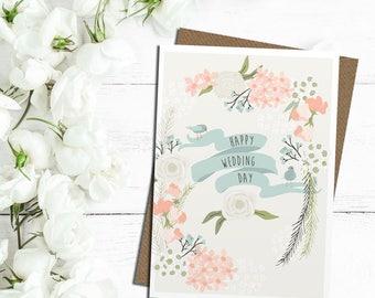 Happy Wedding Day card, wedding day card