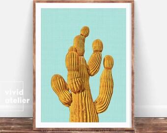 Cactus Print, Cactus Art, Wall Decor, Cactus Wall Print, Cactus Wall Art, Cactus Poster, Cactus Modern Print, Cactus Digital Print, Botanic