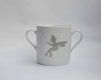 Cup Pixie Angel and stars magic for children, birth, birthday, personalized gift