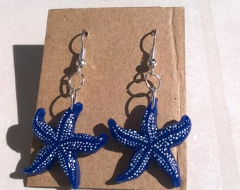 Earrings - sea Translucent stars