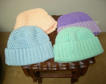 Crocheted Adult hat/ beanie/cap. Warm and soft. Winter Gift, Christmas Gift (Purple Hat no longer available)