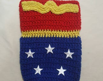 Wonder Woman inspired newborn cocoon set