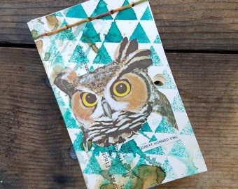 Great Horned Owl Library Catalog Card Notepad