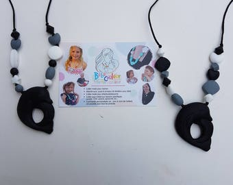 Necklace for MOM in food grade silicone (breastfeeding, Babywearing, teething)