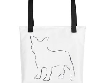 French Bulldog Tote Bag, Market Bag, Library Tote Bag, Dog Tote, French Bulldog Gift, Dog Lover Gift, Dog Tote, Pet Tote Bag, Dog Print Bag,