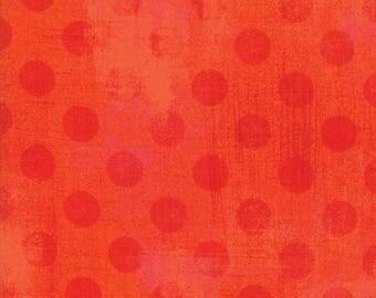 Moda - Grunge - Hits The Spot - Tangerine - 30149 19 - 100% cotton fabric