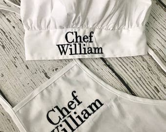 Personalized items embroidered gifts by sweethartmonograms personalized childrens chef apron hat chef apron and hat personalized apron negle Images