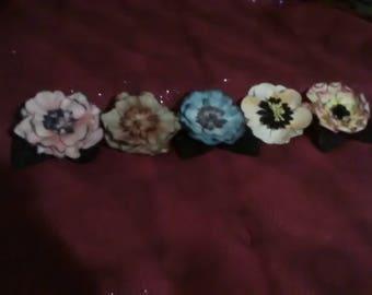 Flower Barrettes