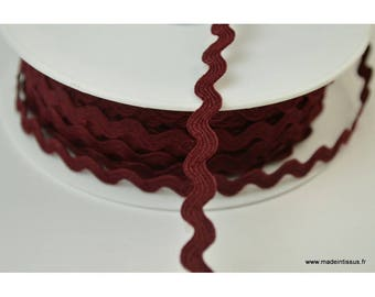 Serpentine Croquet uni Rouge Prune 9mm x1m