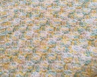 Pale Yellow and Green Baby Blanket