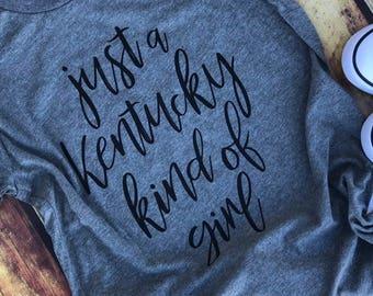 Kentucky Shirt, Kentucky Tshirt, Kentucky Girl Tee, University of Kentucky, State, Bella Canvas, Kentucky State, Kentucky Kind of Girl Shirt