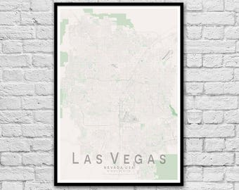 Las Vegas Nevada USA City Street Map Print | Travel Print | Wall Art Poster | Wall decor | A3 A2 | Anniversary Gift | Unique Wedding Gift