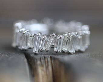 Diamond Baguette Eternity Band - Limited Edition