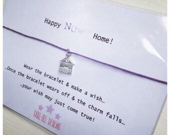 Wishing Bracelet 'Happy New Home' Wish Bracelet Gift