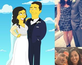 Wedding portrait - couples gift. wedding gifts for couple. bride portrait. marriage. married couple.