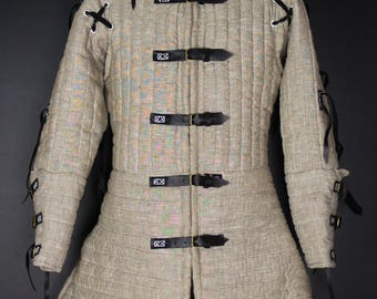 Arming linen doublet - Linen doublet 1405 year - padded armor - Medieval Armor by Steel Mastery
