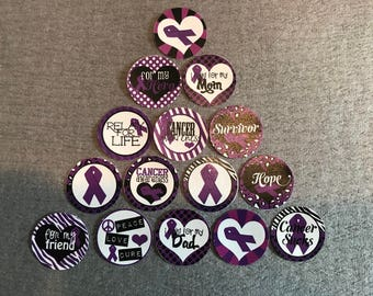 Relay for life Buttons Set of 15